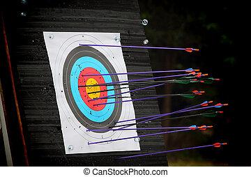 tiro al arco, blanco, flecha