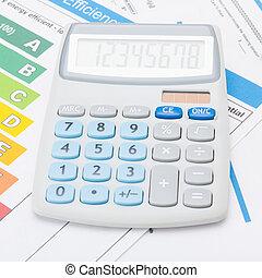 tiro, calculadora, -, mapa, 1, eficiência, estúdio, relação, energia
