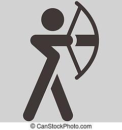 tiro com arco, ícone
