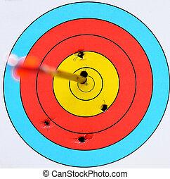 tiro com arco, bulls-eye, alvo, seta
