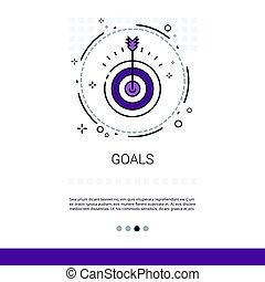tiro com arco, meta, negócio, espaço, cópia, bandeira, alvo