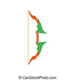 tiro con l'arco, antico, freccia, vendemmia, arma, bianco, frecce, isolato, illustrazione, arco, vettore, fondo, icon., segno, simbolo