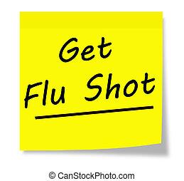 tiro de la gripe, conseguir