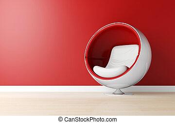 tiro del estudio, sillón, 3d