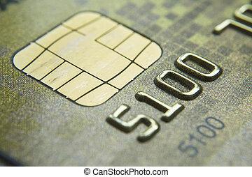 tiro, macro, credito, llave baja, nuevo, tarjeta