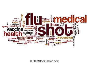 tiro, nube, gripe, palabra