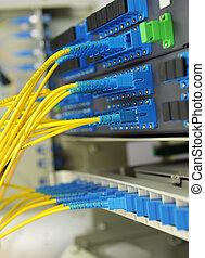 tiro, red, tecnología, cables, servidores, centro de datos