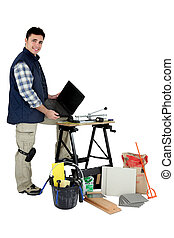 tiro, tiler, estúdio, equipamento