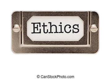 tiroir, éthique, fichier, étiquette