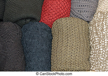 tiroir, laine, chandails, ouvert