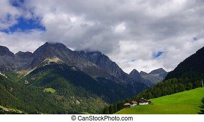 Tirol mountains - Panoramic time-lapse of Austrian Alps,...