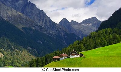 Tirol - Panoramic time-lapse of Tirol mountains, zooming out