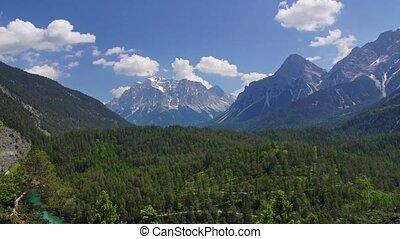Tirol - Panormaic time-lapse of Tirol mountains, Austria