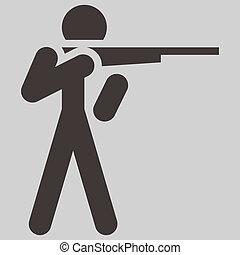 tiroteio, ícone