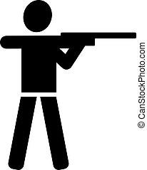 tiroteio, pictograma
