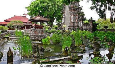 Tirtagangga water palace on Bali island, Indonesia - Water...