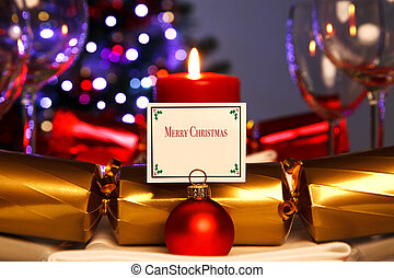 tisch, abendessen, weihnachten