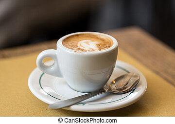 Tisch, bohnenkaffee, Becher