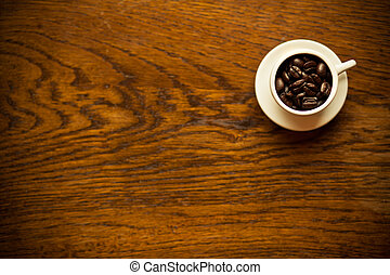 tisch, bohnenkaffee, morgen