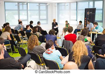 tisch, diskussion, convention., geschaeftswelt, runder