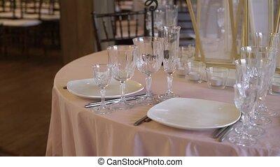 tisch, feier, dekoration