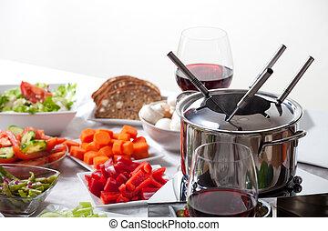 fondue fleisch bestandteil stockbilder suche. Black Bedroom Furniture Sets. Home Design Ideas