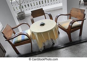tisch, und, stühle
