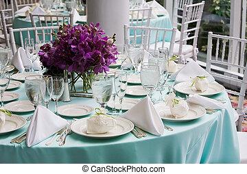 tisch, wedding