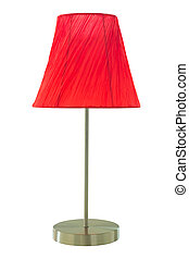tischlampe, rotes