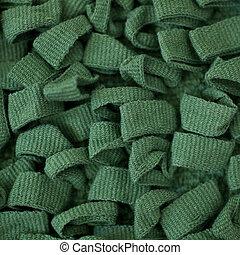 tissu, arrière-plan vert