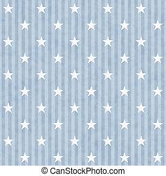 tissu bleu, fond, raies, étoiles, blanc
