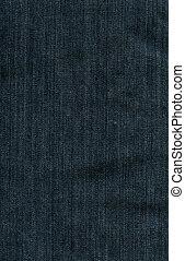 tissu bleu, jean, -, texture, impérial