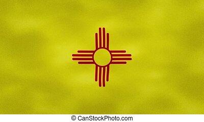tissu, boucle, nouveau, dense, drapeau, fond, mexique, ...
