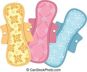 tissu, coussins, coloré