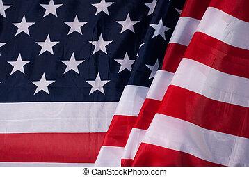 tissu, détail, drapeau, texture, américain, écoulement