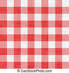 tissu, digitalement, fait, pique-nique, rouges