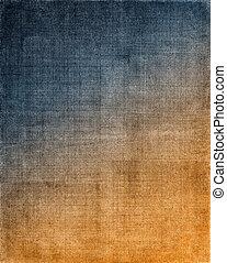 tissu, fond, bleu, orange