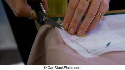 tissu, mode, découpage, 4k, concepteur