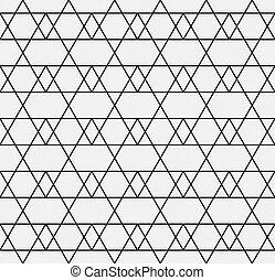 tissu modelé, seamless, zigzag, arrière-plan noir, textured, blanc, répétitions, ligne