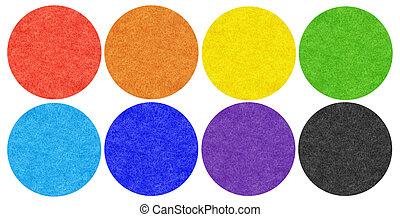 tissu, mohair, ensemble, tout, couleurs