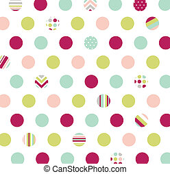 tissu, polka, seamless, point, modèle