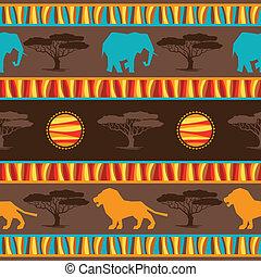 tissu, résumé, ethnique, pattern., seamless, africaine, ...