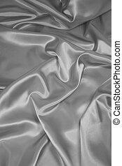 tissu, satin/silk, argent