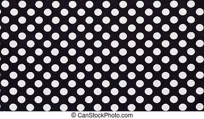 tissu, textile, à, points, modèle