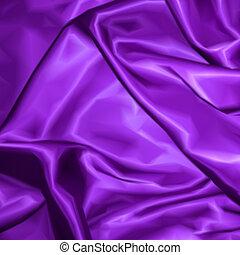 tissu, texture, arrière-plan., vecteur, violet, satin