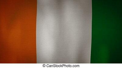 tissu, texture, drapeau ondulant, divoire cote, vent