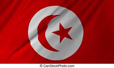 tissu, tunisie, 1, faire boucle, drapeau, 2, structure