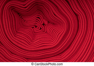 tissu, vue, côté, rouges, rouleau