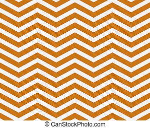 tissu, zigzag, fond foncé, textured, orange, blanc