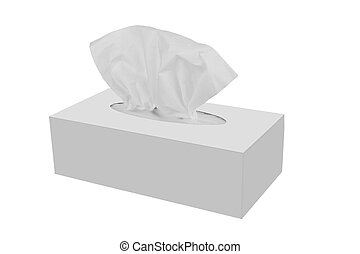 Tissue box isolated on a white